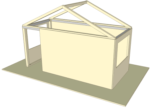 Pitched roof rafters