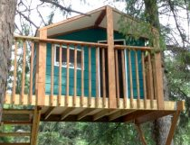 Zelkova treehouse plans for two trees